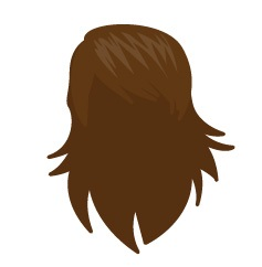 Image showing avatar hair with options: straight, hip, blow_out