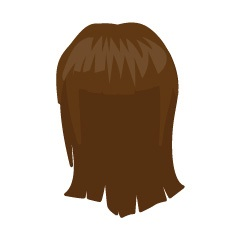 Image showing avatar hair with options: straight, shoulder, blow_out