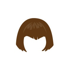 Image showing avatar hair with options: straight, short, bob_cut