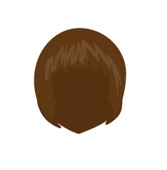 Image showing avatar hair with options: straight, shoulder, bob_cut