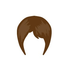 Image showing avatar hair with options: straight, short, pixie_cut