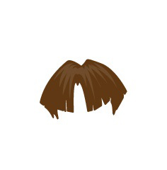 Image showing avatar hair with options: straight, short, bowl_cut
