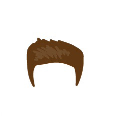 Image showing avatar hair with options: spiky, short, regular_back