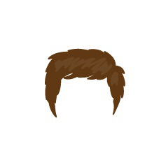 Image showing avatar hair with options: shaggy, short, regular_front